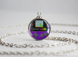 GameGirl necklace Gameboy Color purple