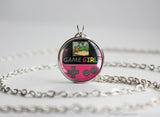 GameGirl necklace Gameboy Color Berry fuchsia