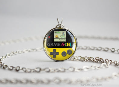 GameGirl necklace Gameboy Color Dandelion yellow