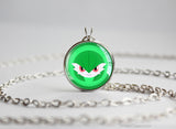 Gardevoir Pokemon Chibi Portrait necklace