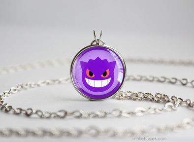 Gengar Pokemon Chibi Portrait necklace