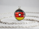 Germany Pokemon Flag pokeball necklace