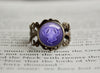 Ghost Type Pokemon Symbol antique bronze ring