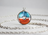 Pokemon Gible Pokeball Pendant Necklace