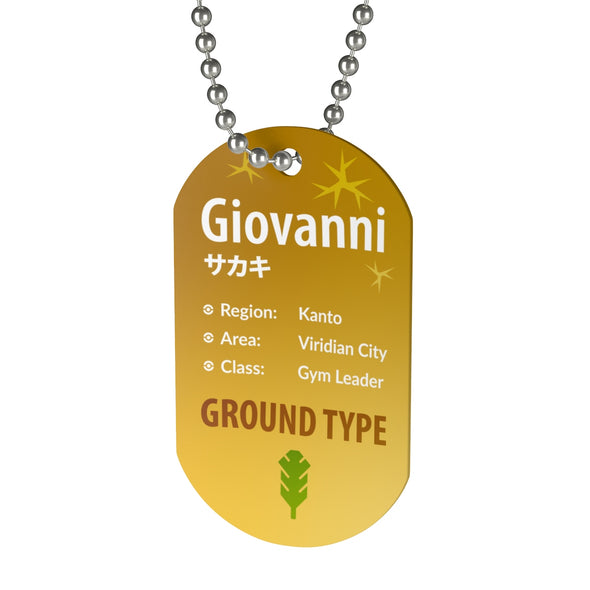Giovanni Gym Leader Pokemon Necklace