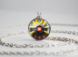Pokemon Giratina Pokeball Pendant Necklace