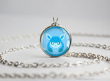 Glaceon Pokemon Eeveelution Chibi Portrait necklace