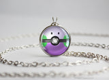 Pokemon Goomy Pokeball Pendant Necklace