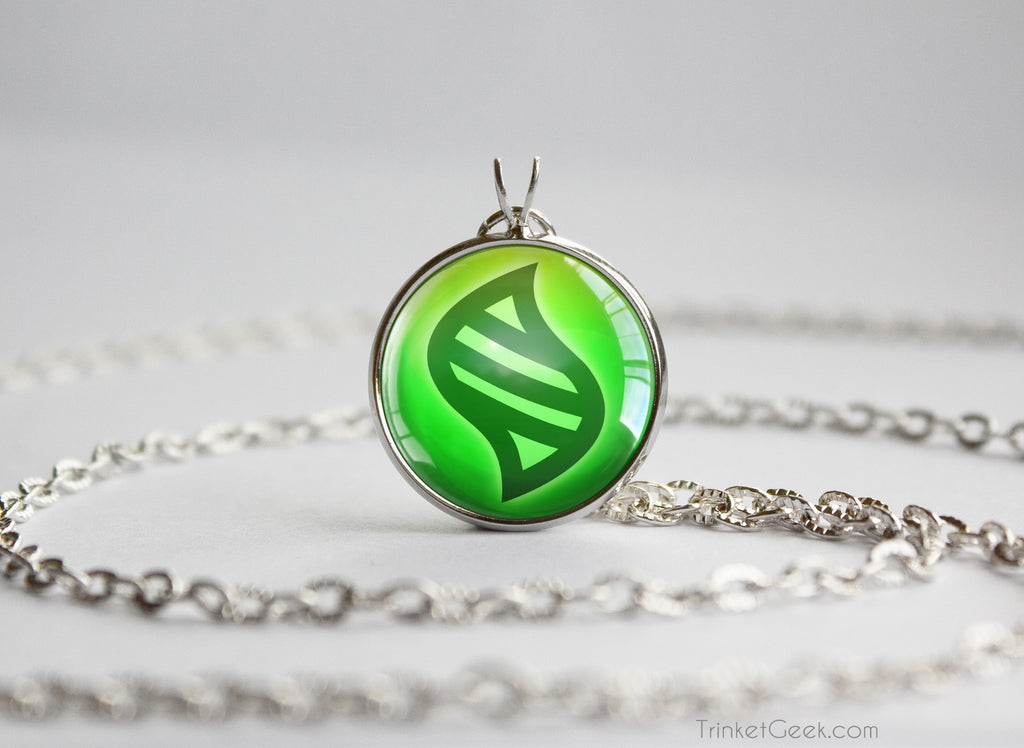 Grass Pokemon Key Stone Type necklace