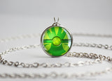 Grass Type Pokemon Necklace Themed Pokeball pendants
