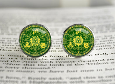 Zelda Cufflinks Green Gate Historia of Time