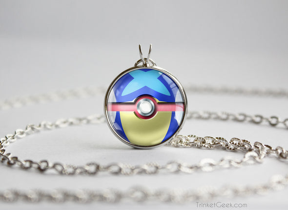 Greninja Pokemon Kalos Starter Themed Pokeball pendant