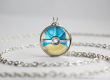 Pokemon Gyarados Themed Pokeball Pendant