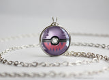 Pokemon Haunter Themed Pokeball Pendant