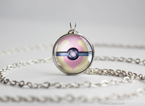 Pokemon Pokeball Heal Ball Necklace Pendant