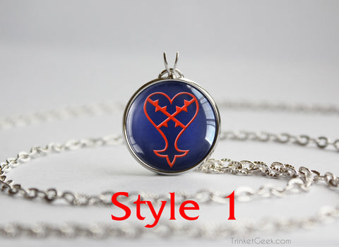 Kingdom Hearts KH Heartless Symbol pendants