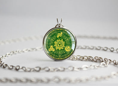 Zelda necklace Historia of Time silver