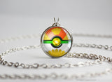 Pokemon Gold and Silver Ho Oh Pokeball Necklace