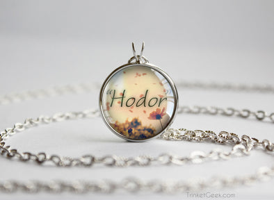 "Thrones necklace ""Hodor"" Hodor quotation silver"
