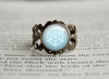 Ice Type Pokemon Symbol antique bronze ring