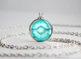 Ice Type Pokemon Necklace Themed Pokeball pendants