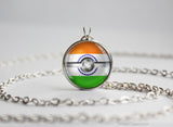 India Pokemon Flag pokeball necklace