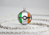 Irland Pokemon Flag pokeball necklace