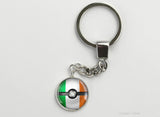Irish Flag themed Pokeball Key Chains