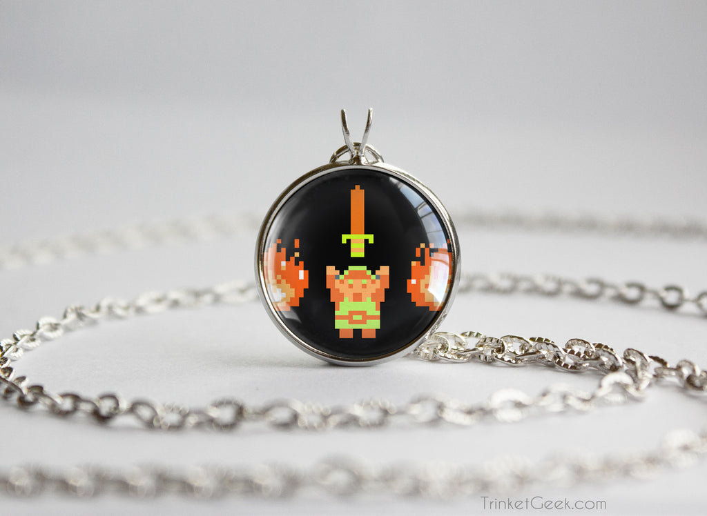 Zelda necklace retro Link it's dangerous pendant