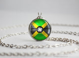 Jamaica Pokemon Flag pokeball necklace