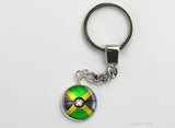 Jamaican Flag themed Pokeball Key Chains