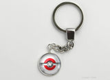 Japanese Flag themed Pokeball Key Chains