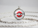Japan Pokemon Flag pokeball necklace