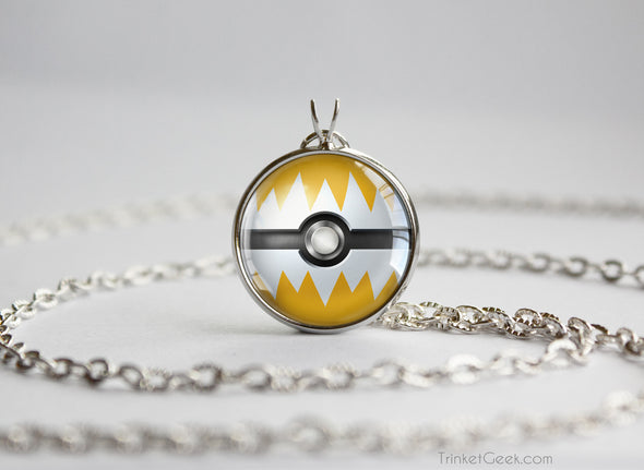 Pokemon Jolteon Eeveelution Pokeball Pendant Necklace