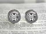 Kindom Hearts cufflinks Ultimania Trinity