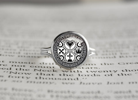Kindom Hearts silver ring Ultimania Trinity
