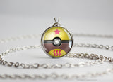 Pokemon Kadabra Themed Pokeball Pendant