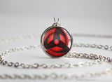 Naruto pendant Kakashi Obito Uchiha Sharingan necklace