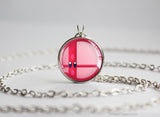 Super Smash Ball Kirby necklace