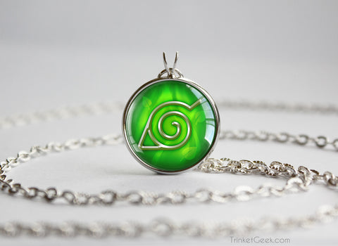 Naruto Shinobi Village Symbol pendant necklace Konohagakure