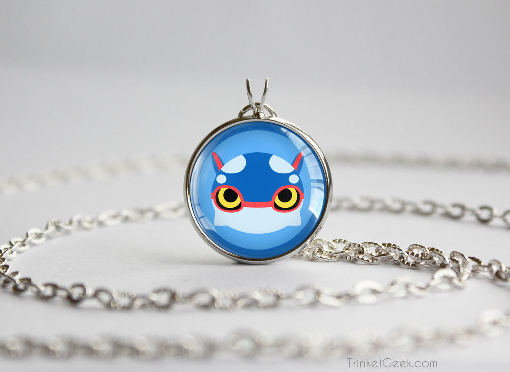Pkmn ORAS Hoenn Weather Trio Kyogre Chibi Portrait necklace