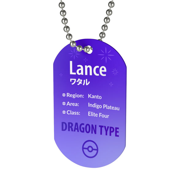 Lance Elite Four Pokemon Necklace