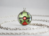Pokemon Larvitar Pokeball Pendant Necklace