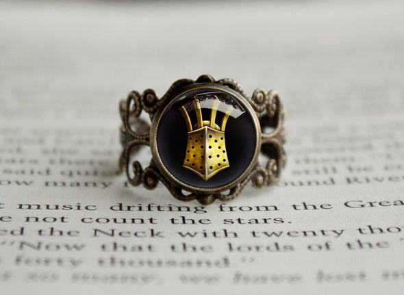 Dark Souls Helmet Filigree Ring The Embraced Knight Lautrec of Carim