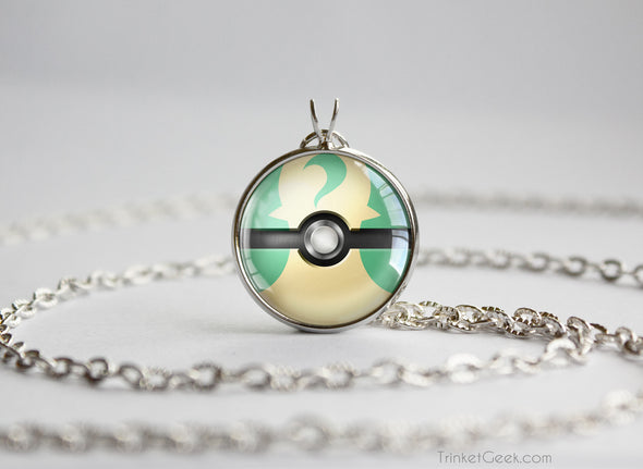 Pokemon Leafeon Eeveelution Pokeball Pendant Necklace