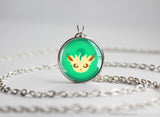 Leafeon Pokemon Eeveelution Chibi Portrait necklace