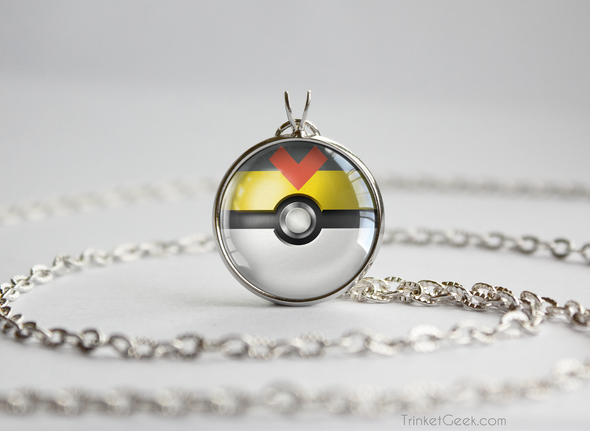 Pokemon Pokeball Level Ball Necklace Pendant