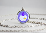 Litwick Pokemon Chibi Portrait necklace