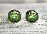 Loki god of mischief cufflinks