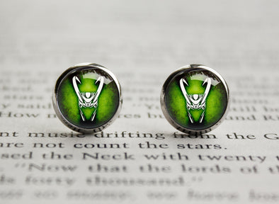Loki god of mischief earrings